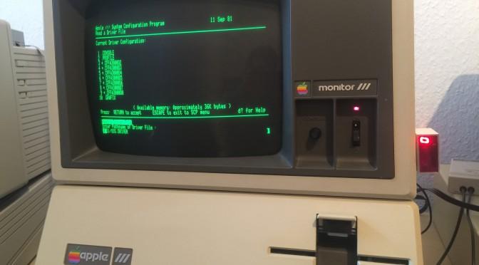 Bastelprojekt: Apple III ganz ohne Floppy Disk