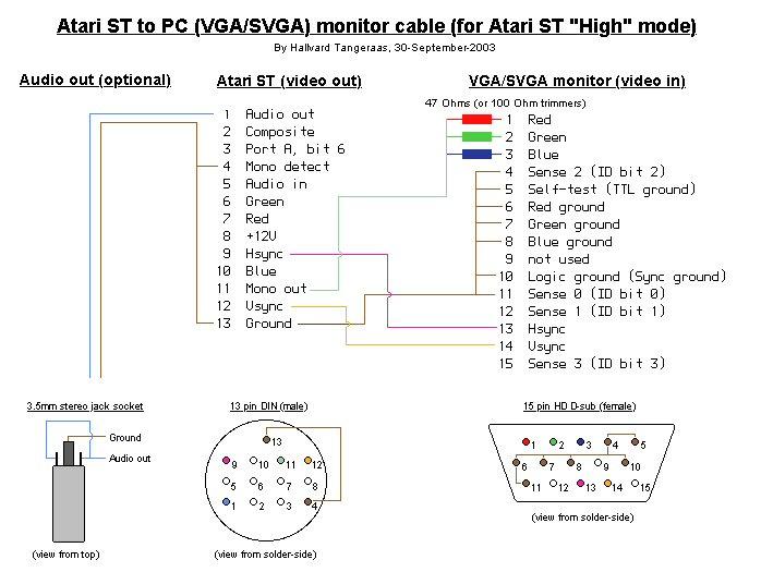 Atari St Vga Adapter Verein Zum Erhalt Klassischer